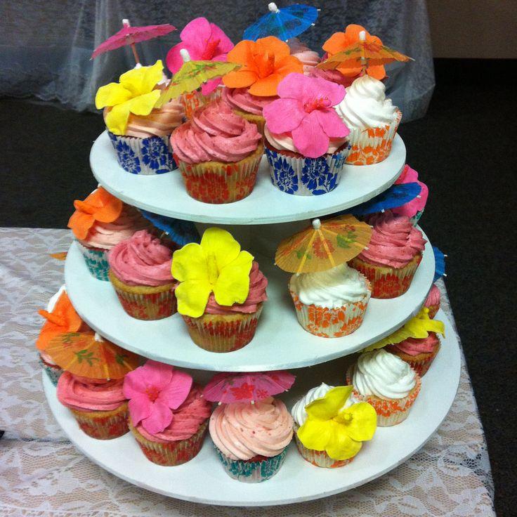 luau baby shower cupcakes laidback cakes pinterest