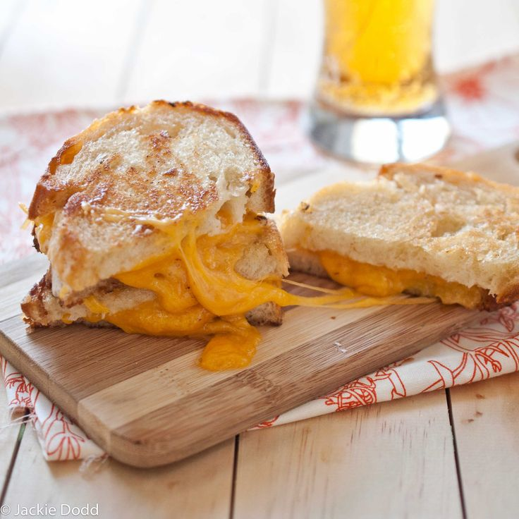 Brown Butter Grilled Beer Cheese Sandwich - make a tomato beer soup on ...
