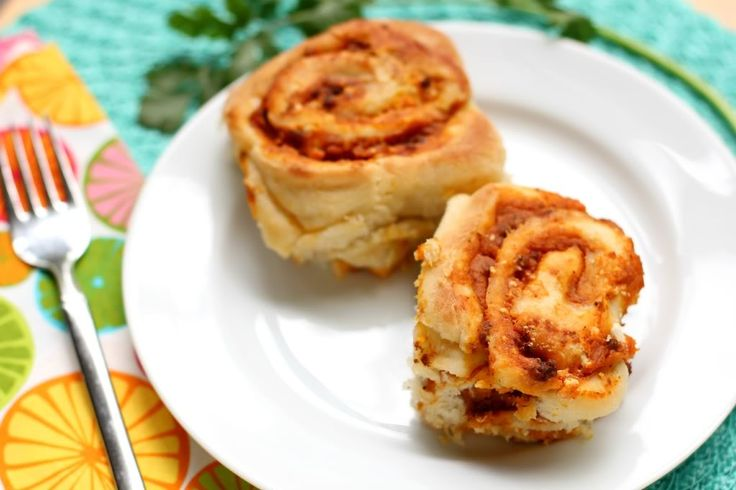 "Savory Sweet Potato & Chorizo ""Cinnamon Rolls"" with chorizo, queso ..."