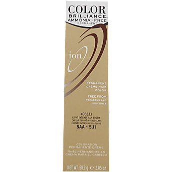 Ion Ammonia Free Hair Color 5AA Light Intense Ash Brown