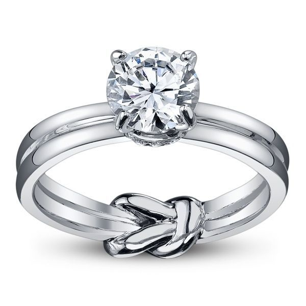 love knot engagement ring engagement wedding rings