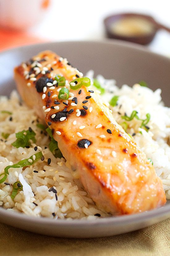 Miso-glazed salmon using a quick and easy 3-ingredient miso glaze. The ...