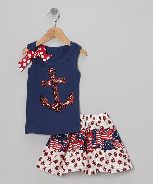 4th of july tank with bow