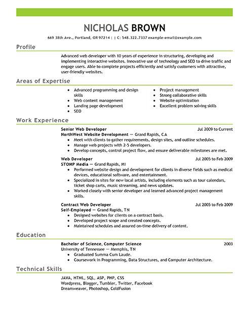 Engineering Resume Builder