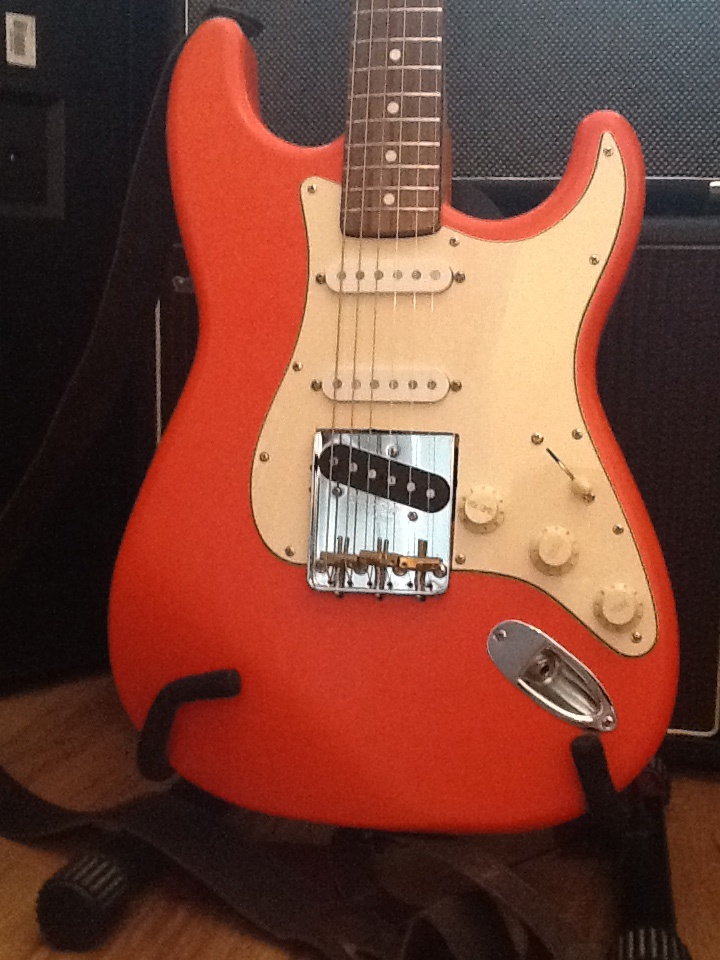 Fender partscaster hard tail strat converted with tele bridge best