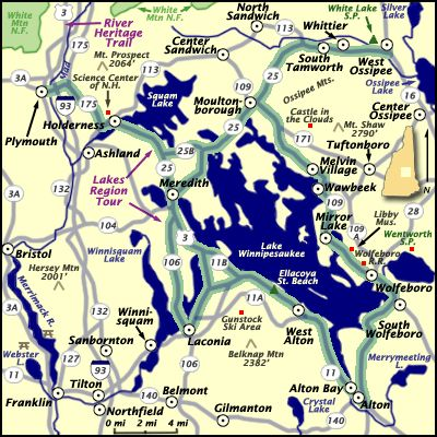 new hampshire lakes map bnhspinecom