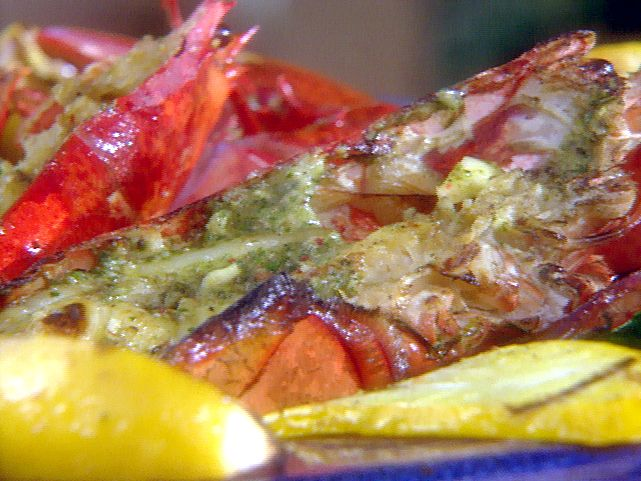 Grilled Lobster and Summer Vegetables with Spicy Herbed Butter | Reci ...