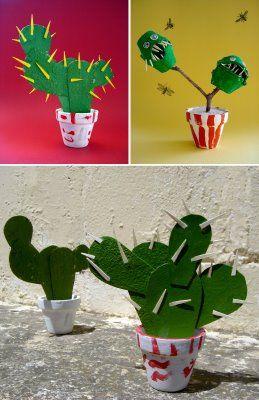 Cactus craft for kids