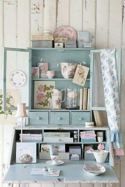 De casi todo un poco mas muebles vintage pintados for Decoracion muebles vintage