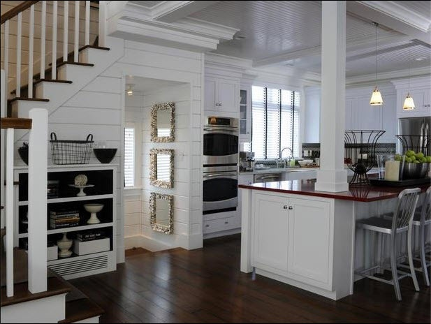Kitchen with pantry under stairs kitchens pinterest for Kitchen designs under stairs