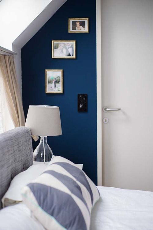 blaue wand living and decoration Pinterest