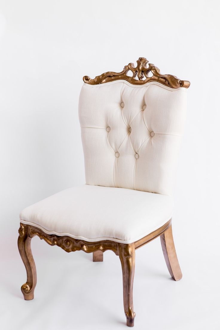White and gold chair vintage rentals sandalyeler pinterest