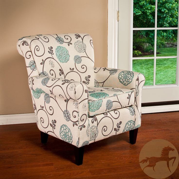 Christopher knight home roseville fabric floral club chair overstock
