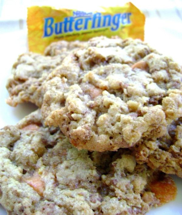 Peanut Butter Cocoa Pebbles Butterfinger Cookies
