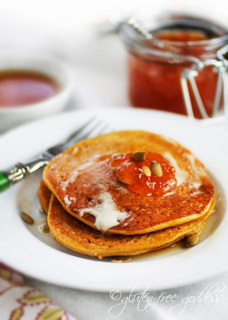 ... Gluten-free pumpkin pancake recipe from Karina is dairy-free and