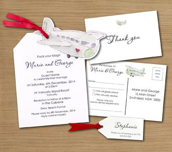 Luggage Tag Wedding Invitation & Stationery