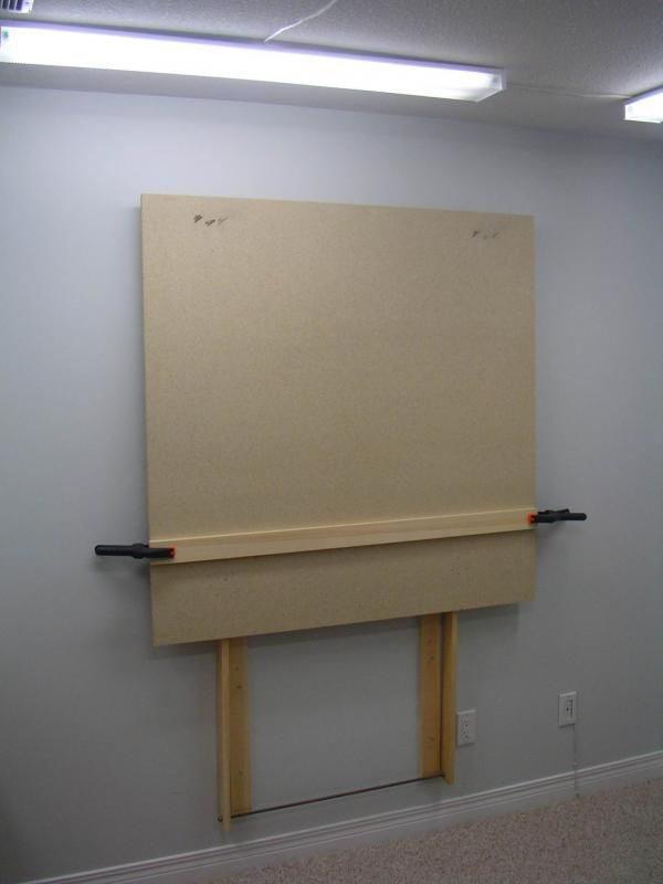 Plans For DIY Large Wall Mount Easel WetCanvas