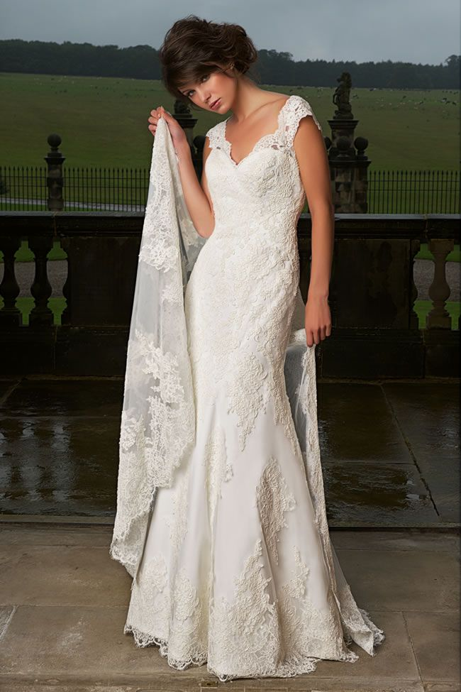 shared lace country wedding dresses