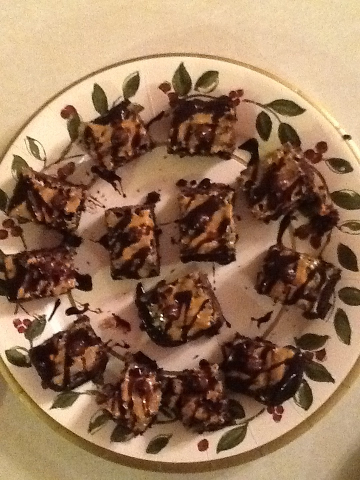 Peanut butter chip fudge brownies with peanut butter frosting ...