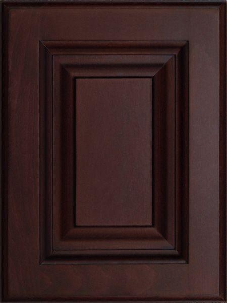 dark mahogany kitchen cabinets  Custom Cherry Mahogany RTA Sample