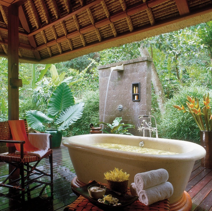 Outdoor Soaking Tub Bathrooms Pinterest