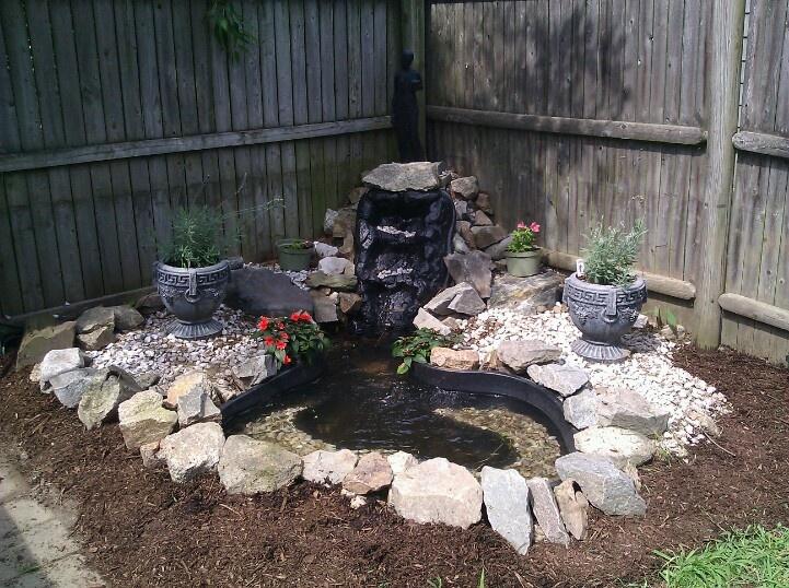 My backyard fountain outside pinterest for Backyard fountains