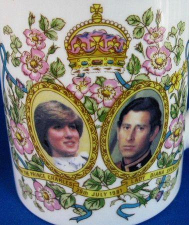 mug royal wedding charles diana english bone china pretty