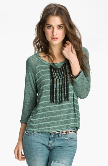 ... People 'Last Call' Striped Baseball Sweater available at #Nordstrom