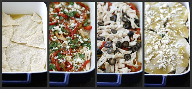 Mexican Chicken Taco Casserole with Olives, Peppers & Queso Fresco Ch ...