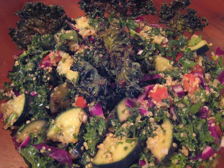 Kale, Cucumber, Cabbage & Quinoa - Salad | Food I Love | Pinterest