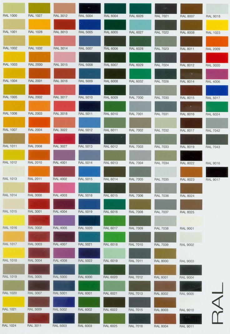 Nuancier ral nuanciers pinterest - Nuancier couleur peinture ...
