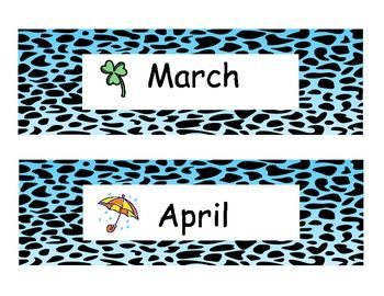 THEMED Months of the Year Calendar Headings Images - Frompo