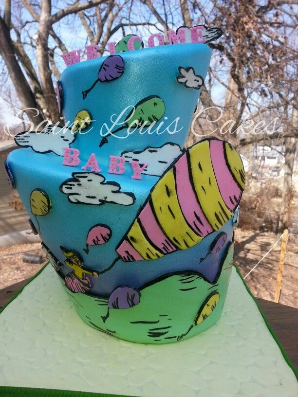 ... You'll Go, Dr. Suess baby shower cake by Jillian at Saint Louis Cakes
