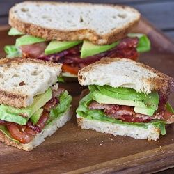 BLT with avocado | Healthy food | Pinterest