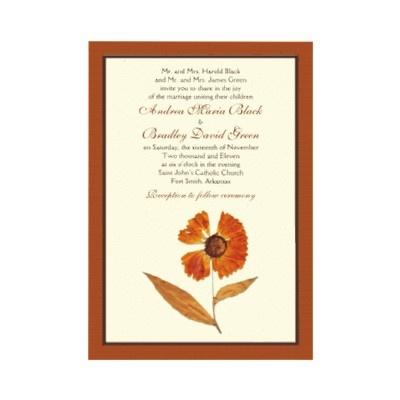 Pressed Flower Wedding Invites Wedding Ideas Pinterest