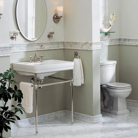 Pin by ellyce warns on bathroom ideas pinterest for Half tiled bathroom ideas