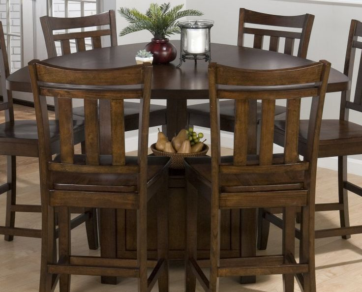 Triangle bar height table for the home pinterest - Triangle counter height dining set ...