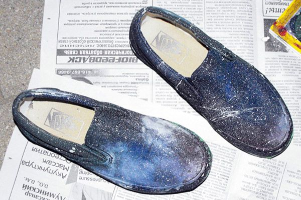 DIY Cosmic Shoes- Paint Your Own Galaxy Shoes note: link to