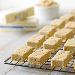 Melt-in-your-mouth shortbread. Only 3 ingredients.