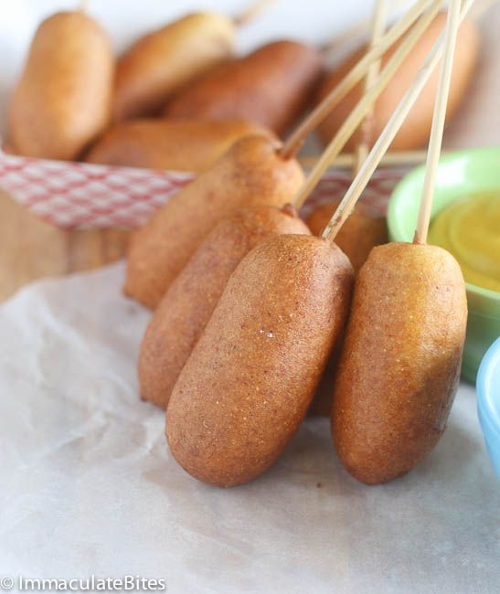 Corn Dogs | Snacks-Healthy and Not | Pinterest