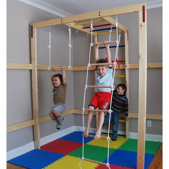 Diy indoor jungle gym for kids why grow up pinterest for Diy jungle gym ideas