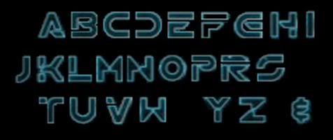 Tron : Legacy font - forum | dafont.com | Scifi art style | Pinterest