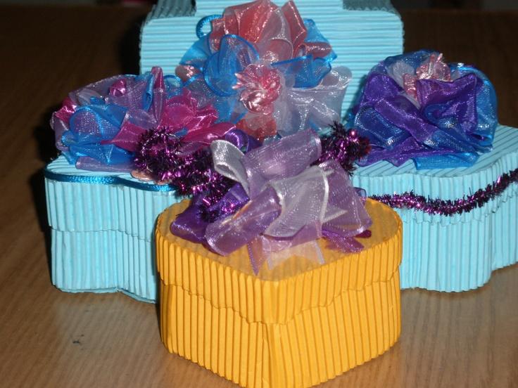 Cajas de papel corrugado para regalo manualidades - Cajas para manualidades ...
