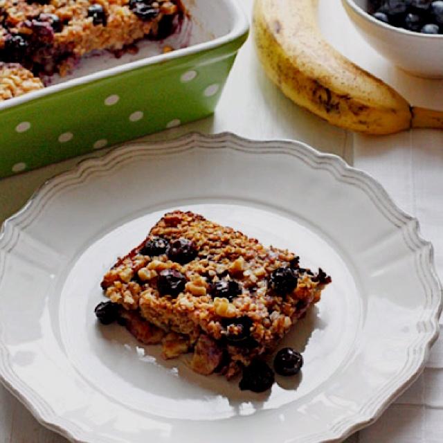 Oatmeal blueberry banana breakfast bars | Healthy Eats | Pinterest