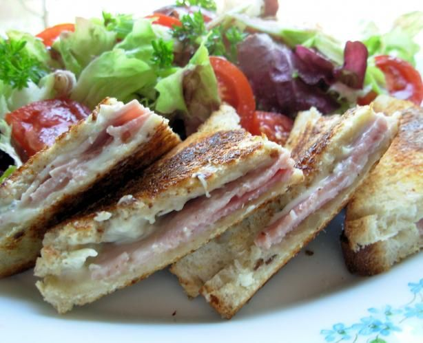 Grilled Ham and Blue Cheese Sandwich - Croque Monsieur. Photo by ...