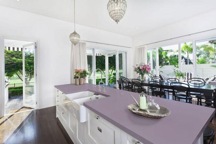 MACS  Coastal Kitchen Ideas  Lilac Haze S215 #Kitchen #SolidSurface