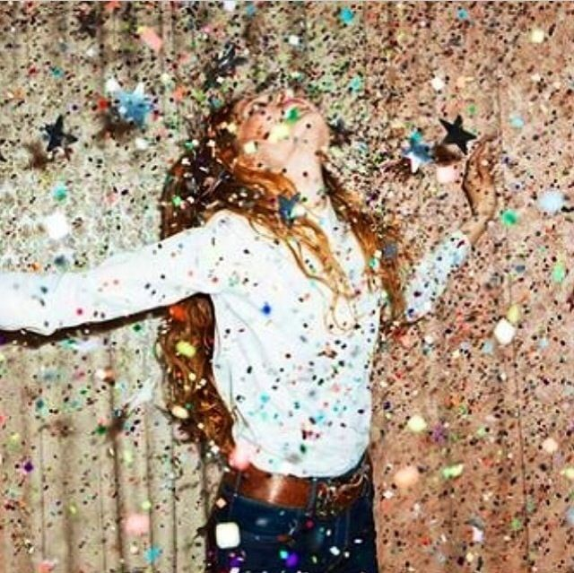 Glitter party love that. enjoy life every moment, Happy New Year's Eve! #EccoDomaniCelebration