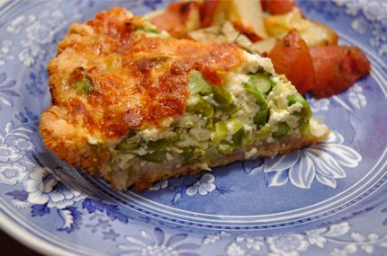 Asparagus leek and gruyere quiche | Food I want to make | Pinterest