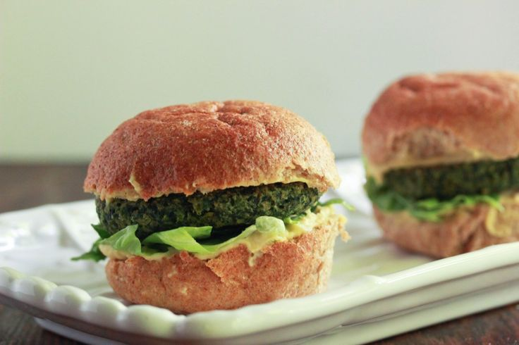 Spinach and Chick Pea Burgers 2 | Appetizers | Pinterest