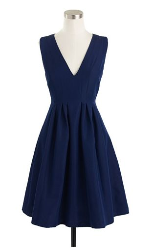 navy fit and flare dress wardrobe pinterest